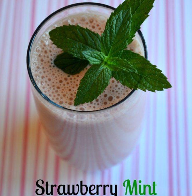 Mint Strawberry Smoothie