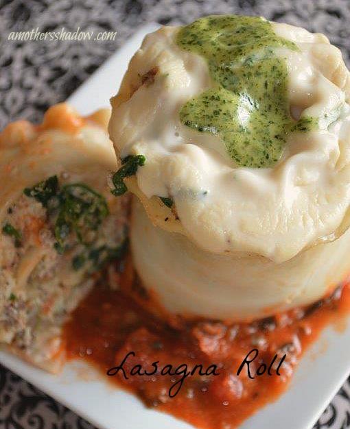Gourmet Lasagna Rolls.