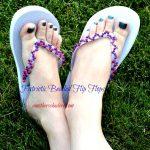 DIY Patriotic Flip Flops
