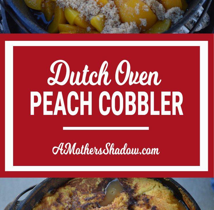 Peach Cobbler in a Dutch Oven