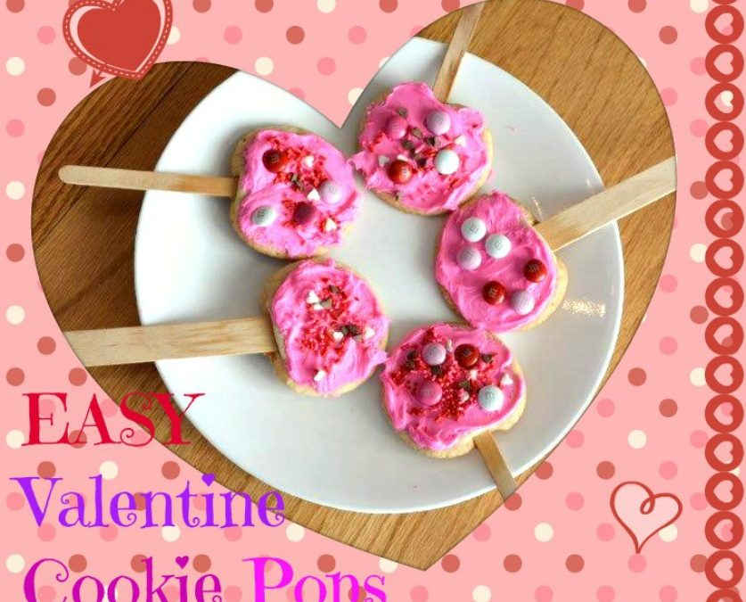 Easy Valentine Cookie Pops