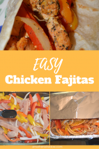 Delicious Chicken and fresh Vegetable Fajitas baked in the oven with green, red, orange and yellow bell peppers and onion. Seasoned with a wonderful homemade fajita seasoning. Serve with your choice of condiments.