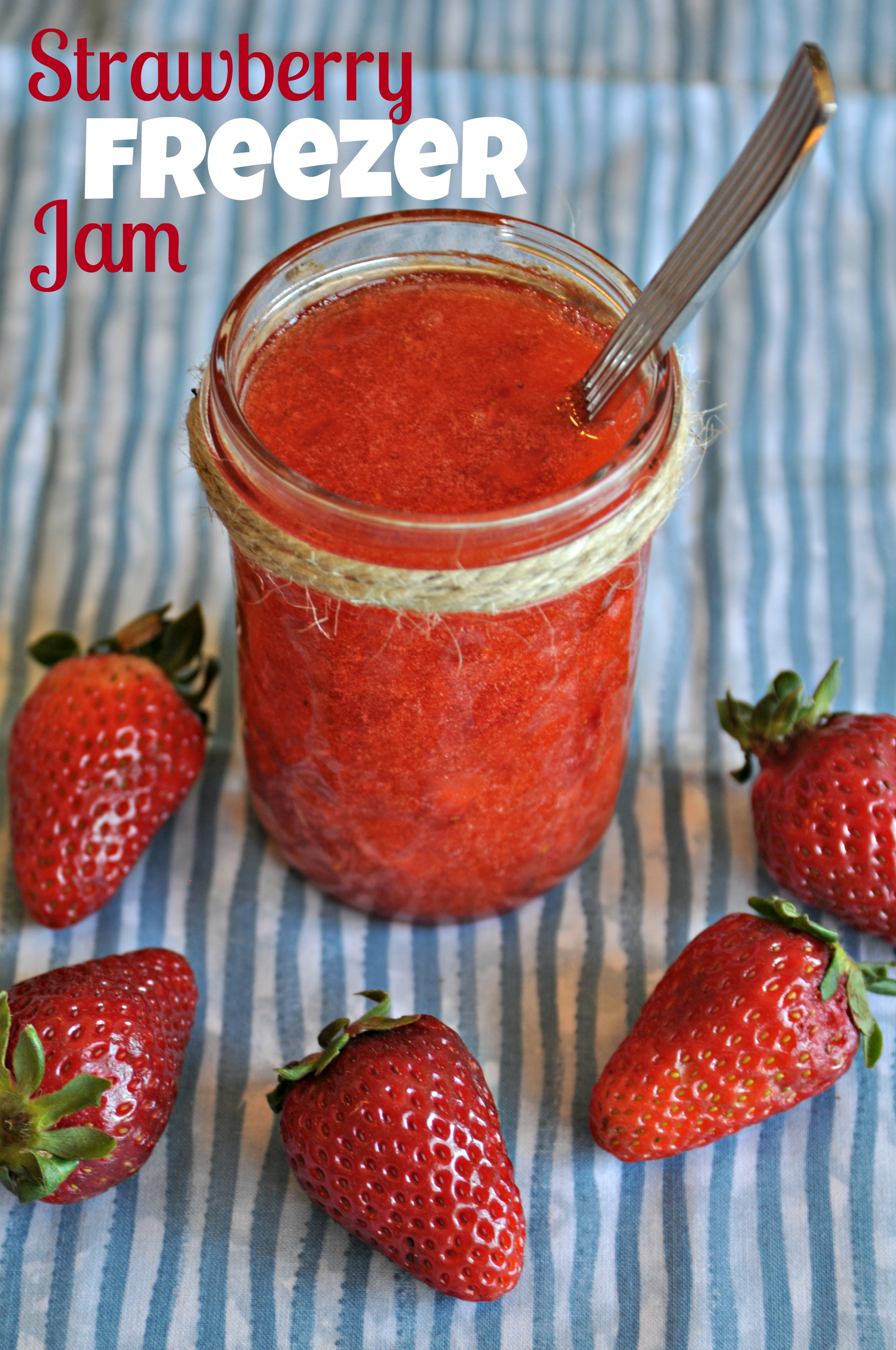 Capture the Strawberry Goodness with this freezer jam. Easy to make use Pectin, Sugar and Freezer bags. Family favorite, Easy to follow step by step recipe
