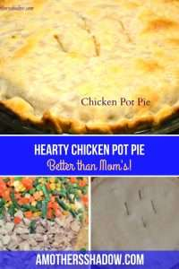 This easy Chicken Pot Pie recipe tastes like homemade but it's with premade pie crusts, frozen vegetables and rotisserie chicken. The homemade savory sauce is gourmet and brings it all together. Freeze one for later