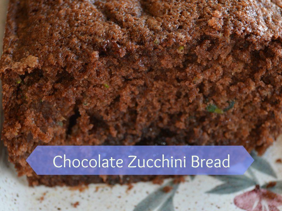 Chocolate Zucchini Bread best way to eat squash