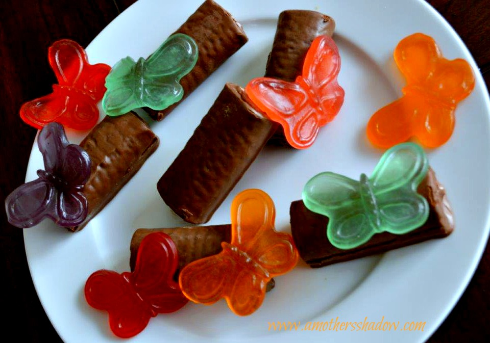 Family Time Treat - Swiss Rolls with Gummy Butterflies