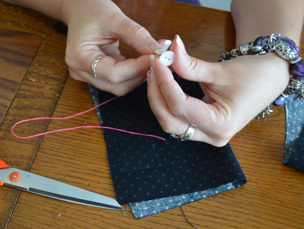 How to Sew on a Button 3
