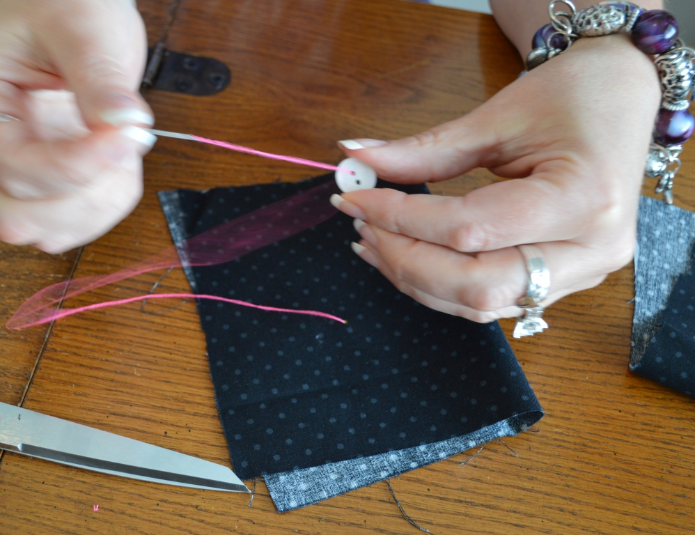 How to Sew on a Button 4