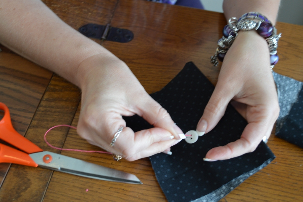 How to Sew on a Button 5