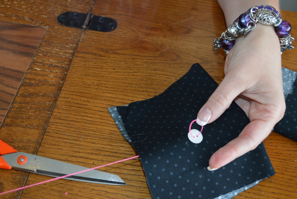 How to Sew on a Button 6
