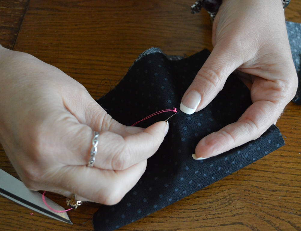 How to Sew on a Button 9