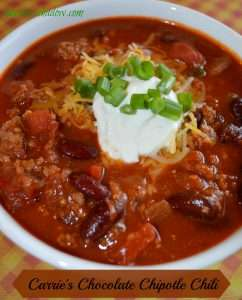 Carrie's Chocolate Chipotle Chili