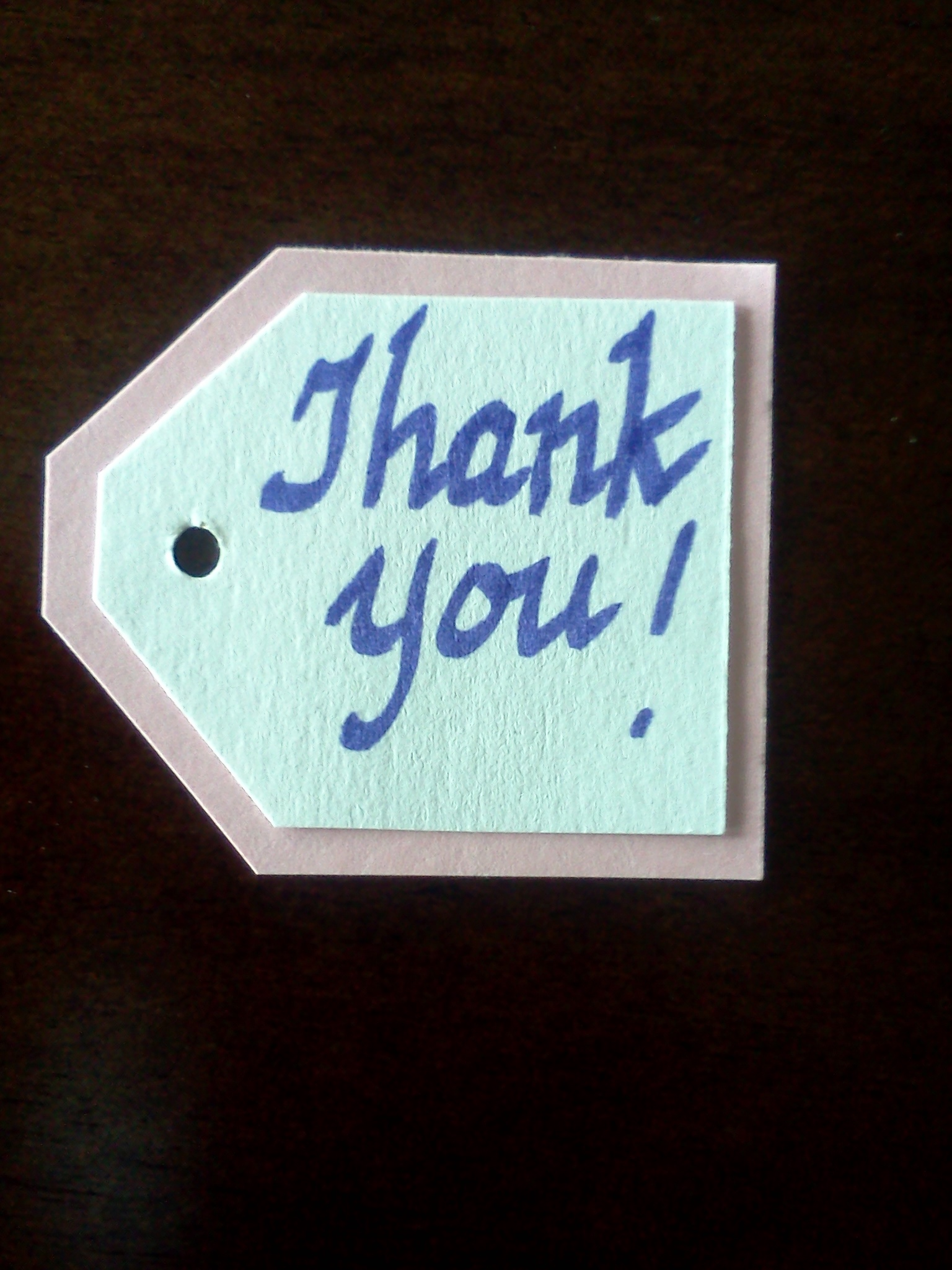 Hand Made Thank You Card 6