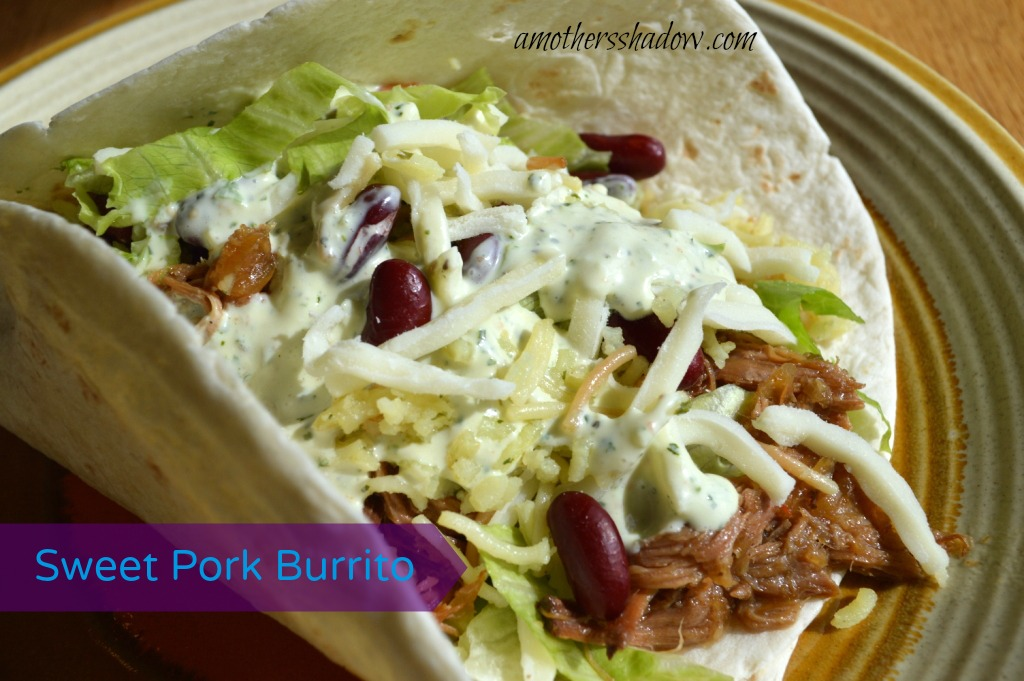 Sweet Pork Burrito & Tomatillo Dressing
