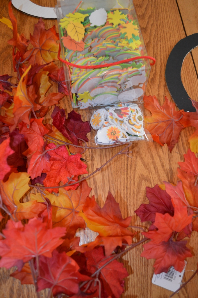 Kids Craft Thanksgiving Wreath 1