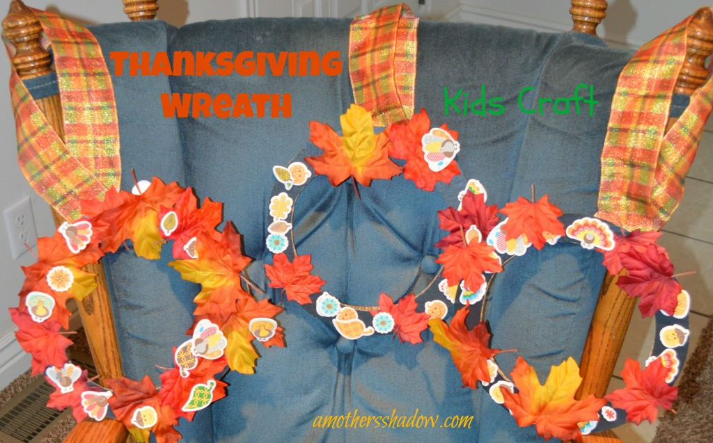 Kids Craft Thanksgiving Wreath