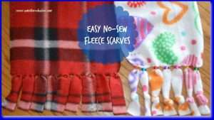 How to make an easy no-sew fleece scarf