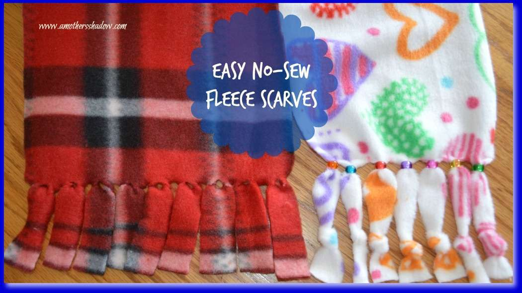 How to Easily Make a Fleece Scarf