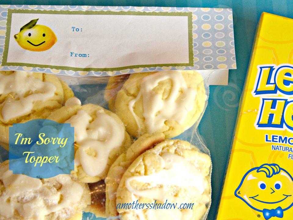 lemon cookie topper