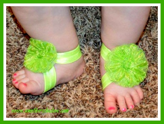 Homemade baby sandals