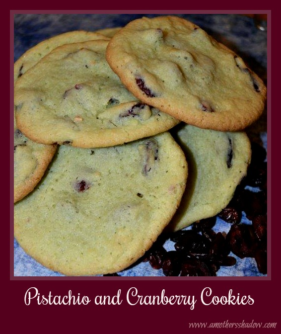 Pistachio and Cranberry Cookies are buttery and soft. Salty nuts and tart cranberries make these unique