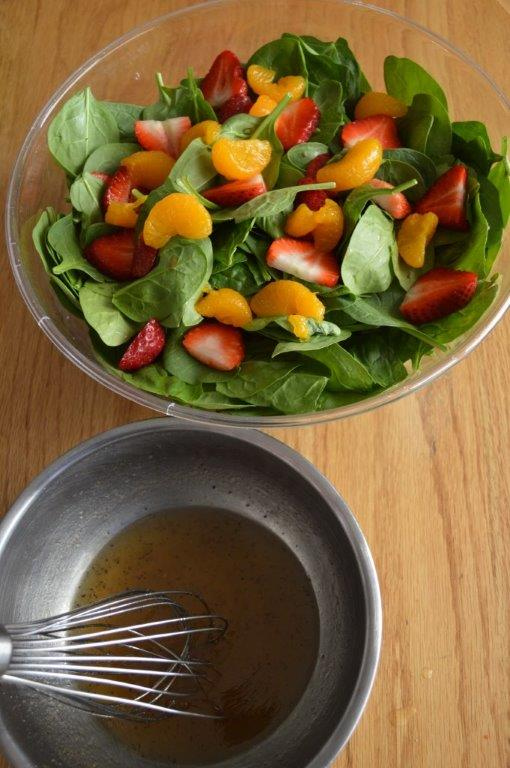Fresh Fruit and Spinach Salad