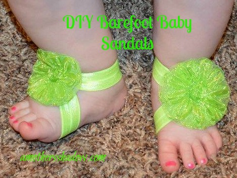Adorable Barefoot DIY Baby Sandals