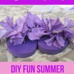 Ribbon or Rag Tie Flip Flops