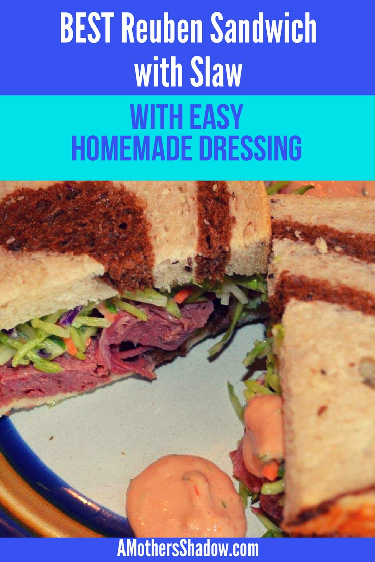 BEST Reuben Sandwich, Slaw & Homemade Dressing