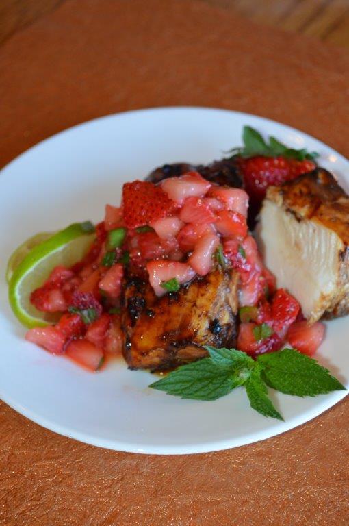 Balsamic Chicken in Strawberry Salsa 16