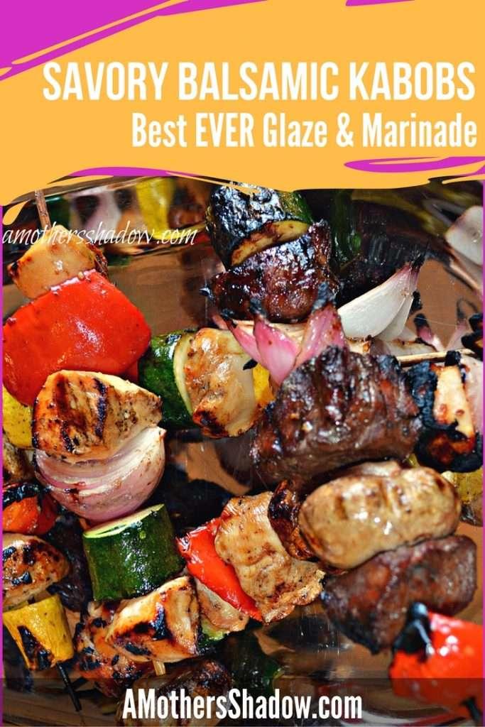 Balsamic Glazed Marinated Kabobs