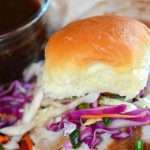 Hawaiian Pork Sliders with Slaw & Island Sauce