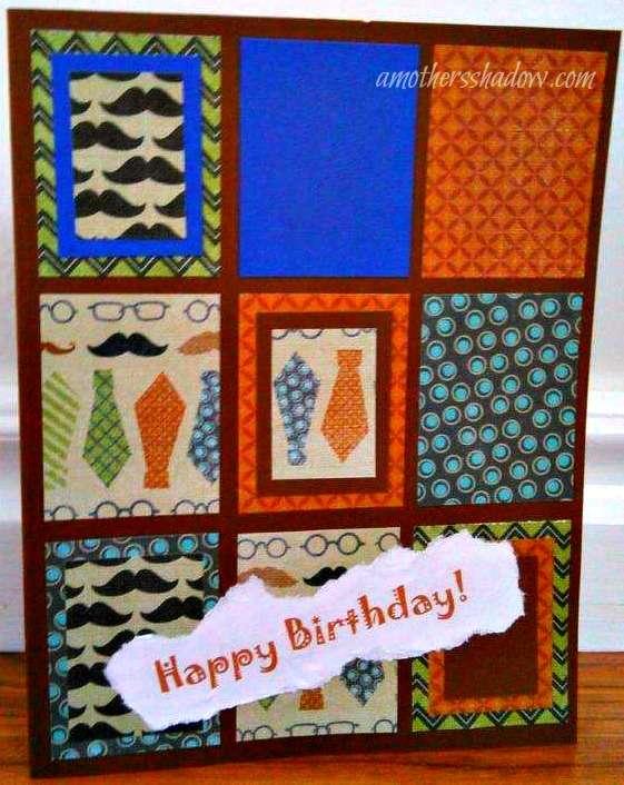 3 Masculine Birthday Cards
