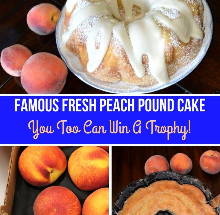 Pound Cake made with Fresh Peaches
