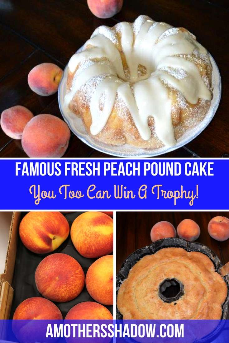 Fresh Peach Pound Cake