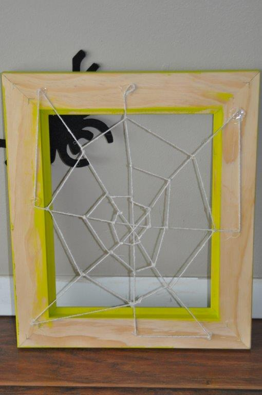 Friendly Halloween Spider Web Frame