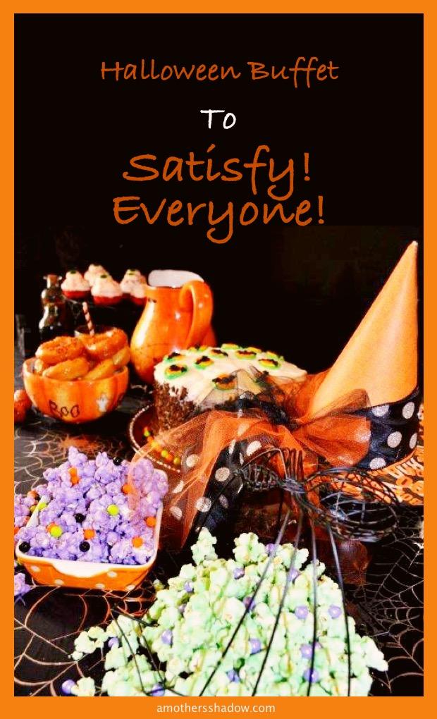 Panini, treats, and food for Halloween