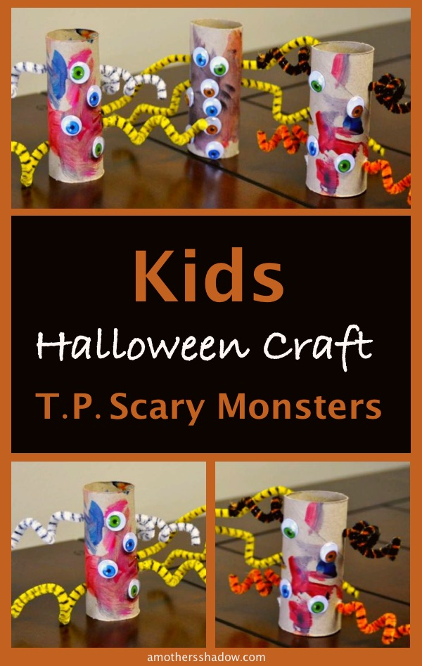 Cute monsters from toilet paper rolls or tubes