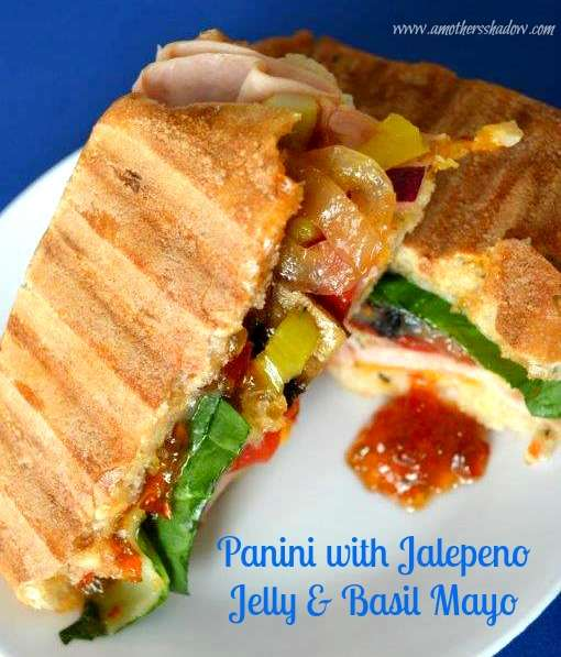 Panini's with Jalapeno Jelly & Basil Mayo