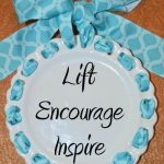 Decorative Ceramic Plate with Inspirational Words