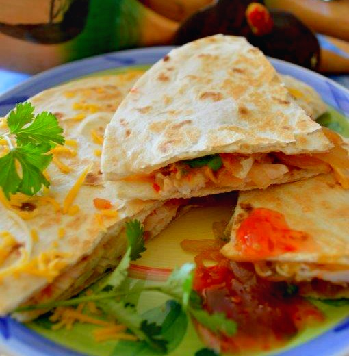 Sweet Chicken Chili Quesadilla - A Mothers Shadow