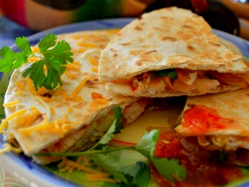 Sweet Chicken Chili Quesadilla