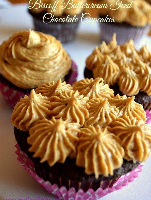 Biscoff Buttercream Iced Chocolate Cupcake