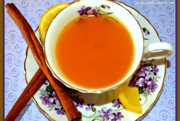Hot herbal tea for a cold or flu
