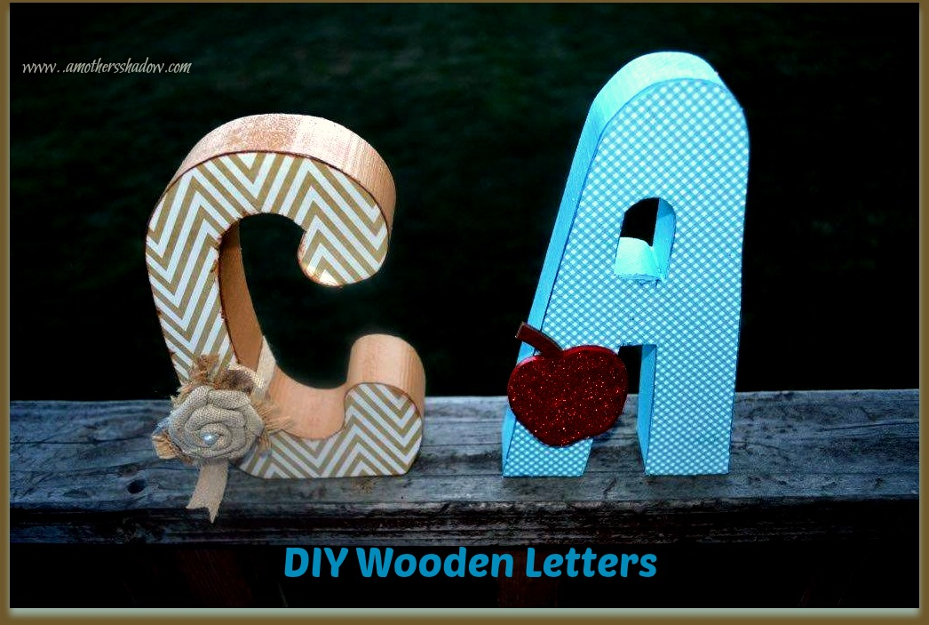 DIY Wooden Letters