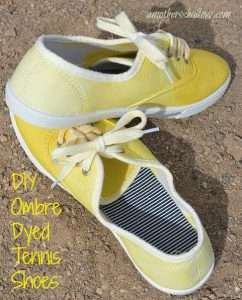 Coloful DIY Dyed Tennis Shoes