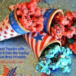 Patriotic Cone Wrapper & PopCorn