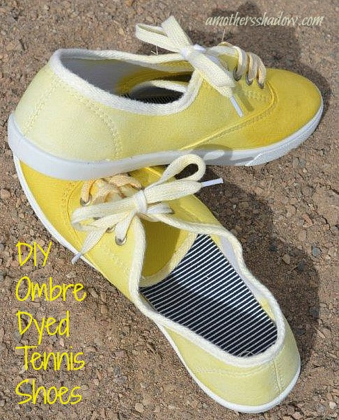 Ombre Dyed Tennis Shoes