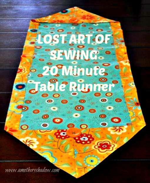 LOST ART OF SEWING – 20 Minute Table Runner