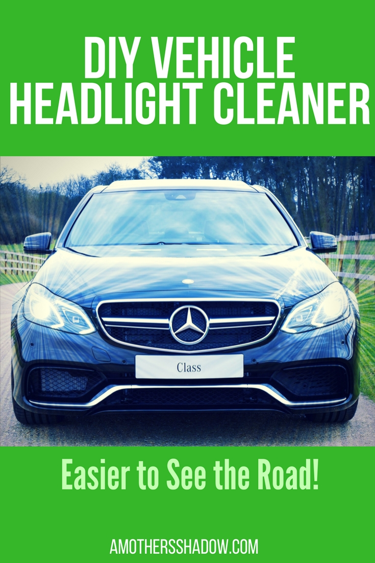 Homemade Vehicle Headlight Cleaner